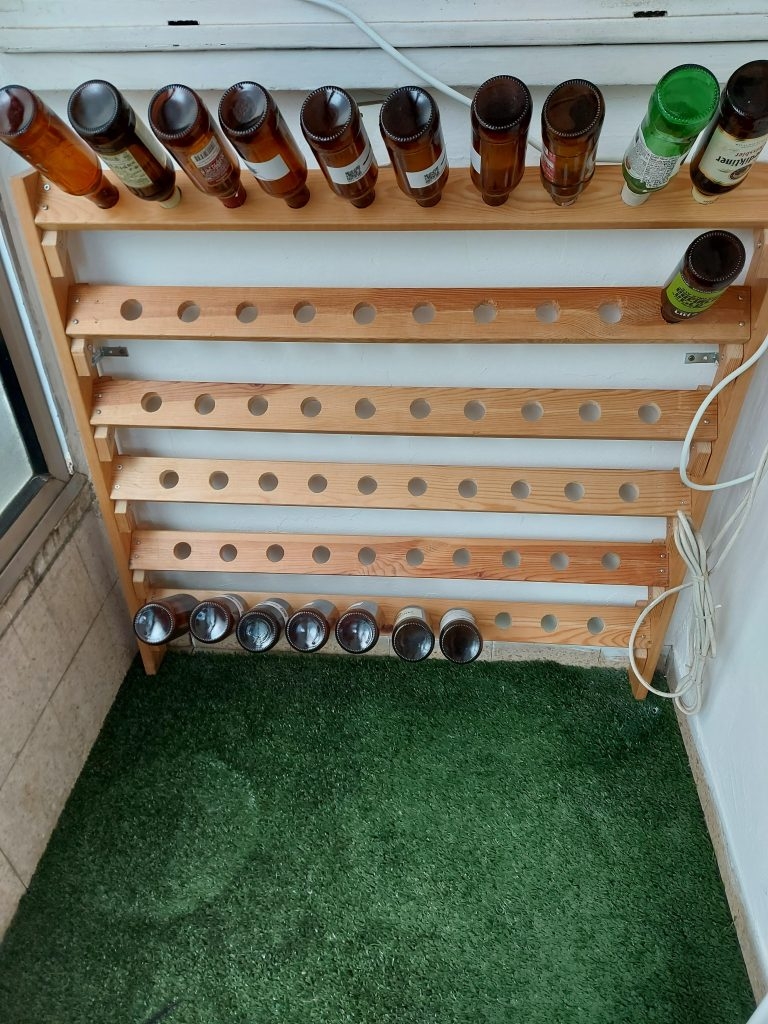 Bottle rack full